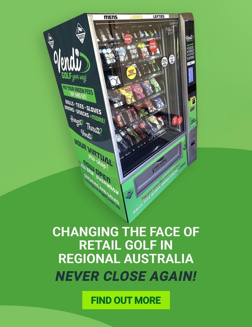 Golf Vending Machine Australia